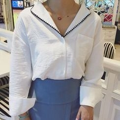Cloud Nine - Embroidered Lapel Shirt