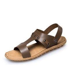 EnllerviiD - Genuine-Leather Sandals