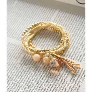 Petit et Belle - Multi-Row Elastic Beaded Bracelet
