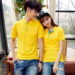 NINETTE - Short-Sleeve Couple Polo Shirt