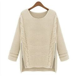 anzoveve - Zip Hem Sweater