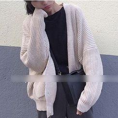 时尚麻豆家 - 粗织开衫
