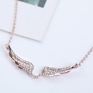 Cuteberry - Rhinestone Wing Necklace