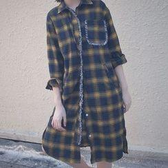 Cloud Nine - Long Plaid Shirt