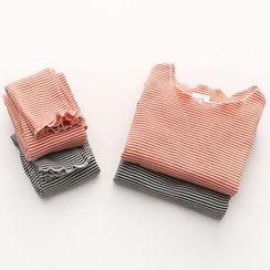 貝殼童裝 - 小童套裝: 條紋上衣 + 長褲