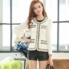 Romantica - Lace Trim Tweed Jacket