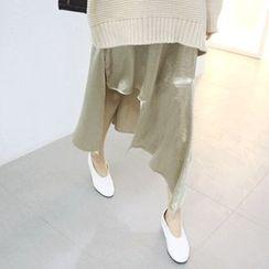 MARSHMALLOW - Spaghetti-Strap Asymmetric-Hem Dress