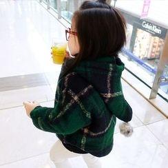 CUBS - Kids Plaid Hooded Coat