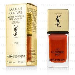 Yves Saint Laurent - La Laque Couture Nail Lacquer The Mats - # 213 Le Orange Mat