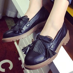 QQ Trend - Fringe Trim Loafers