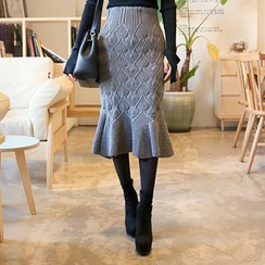 DABAGIRL - Knit Midi Mermaid Skirt