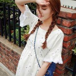 Dream Girl - Floral Short Sleeve A-Line Dress