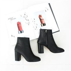 GLAM12 - Zip-Side Ankle Boots