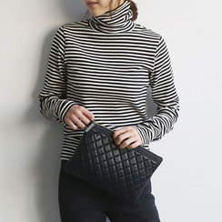 NANING9 - Turtleneck Stripe Pullover