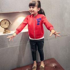 Lemony dudu - Kids Appliqué Zip Neoprene Jacket