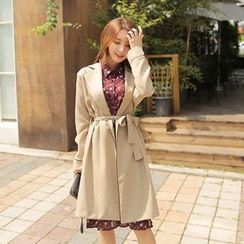 Cherryville - Open-Front Piped Coat with Sash
