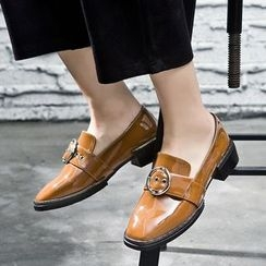 VIAN - Square Toe Patent Loafers