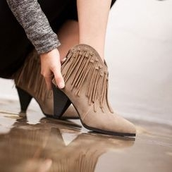 VIVIER - Fringed Ankle Boots