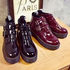 Limone - Buckled Patent Oxfords