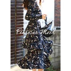 DEEPNY - Floral Print Chiffon Tiered Dress