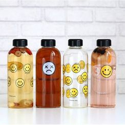 Wild Peach - Smiley Print Water Bottle