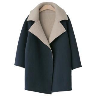 PEPER - Wool Blend Fleece-Lined Coat