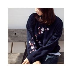 MASoeur - Embroidered Floral Pullover
