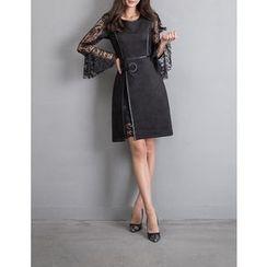 GUMZZI - Sleeveless Piped Dress