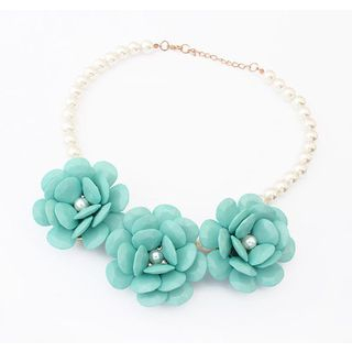 Best Jewellery - Flower Faux-Pearl Necklace