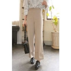 PPGIRL - Cuffed-Hem Wide-Leg Pants