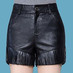 Manilu - Faux Leather Shorts