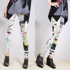 Hyoty - Spattered Printed Leggings