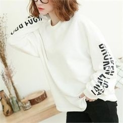 GLAM12 - Lettering-Sleeve T-Shirt
