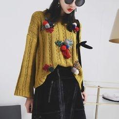 Sonne - 毛球圣诞毛衣