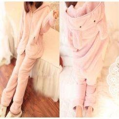 Snow Flower - Pajama Set: Hooded Jacket + Pants