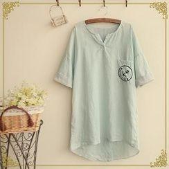 Fairyland - Anchor Print Short-Sleeve Top