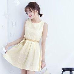 Tokyo Fashion - Bow Sleeveless A-line Dress