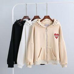 KANAMI - Applique Hooded Zip Jacket