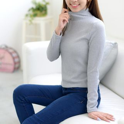 Octavia - Ribbed Turtleneck Sweater