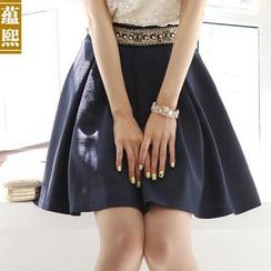 Ranee - Embellished A-Line Skirt