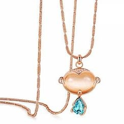 Italina - Swarovski Elements Monkey Pendant Necklace
