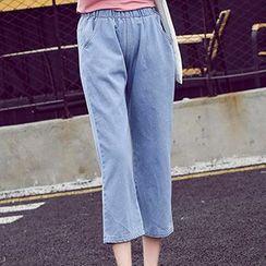Yohana - 七分阔脚牛仔裤