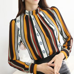 Harmonium - Color-Block Chiffon Blouse