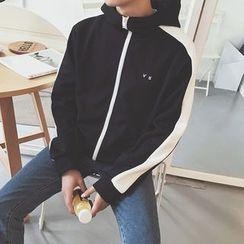 Basique - Color-Block Hooded Jacket