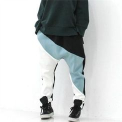 GLAM12 - Color-Block Harem Pants