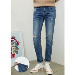 GERIO - Distressed Stright-Cut Jeans