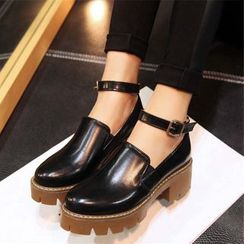 Gizmal Boots - 踝带厚底鞋