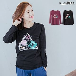 RingBear - Long-Sleeve Print T-Shirt