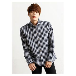 HOTBOOM - Checked Cotton Shirt