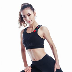 Sylphlike Loli - Embroidered Sport Bra Top